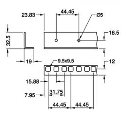 Penn Elcom 6135 Rackprofiel enkel (2 meter)