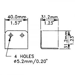Penn Elcom Overzethoek 31.2x40mm