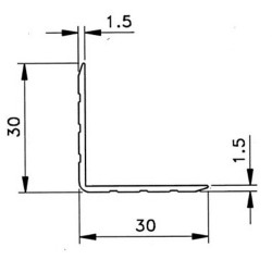 Penn Elcom 0100 Hoekprofiel 30x30x1.5mm